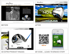 Brand design, photography, mobile media and website design for Tommy Armour.