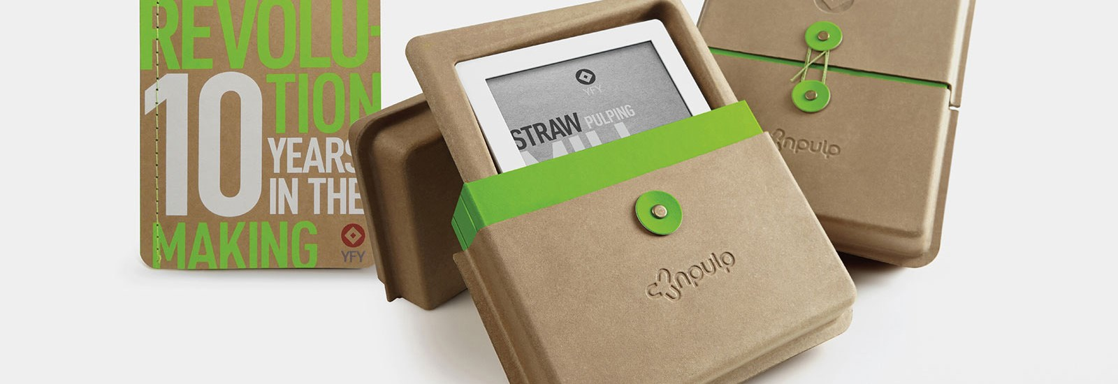 nPulp sustainable packaging made from straw